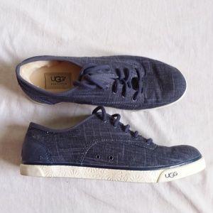Ugg Hally Night Blue Fur Lined Sneaker 8